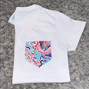 Hand made Lilly Pulitzer Pocket t- shirts